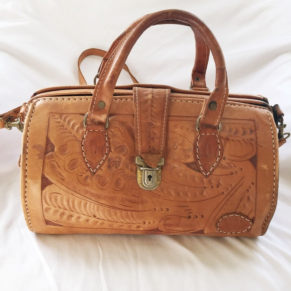 3824ea2281b Vintage Bags | On Hold Leather Doctors Bag Style Pursue | Poshmark